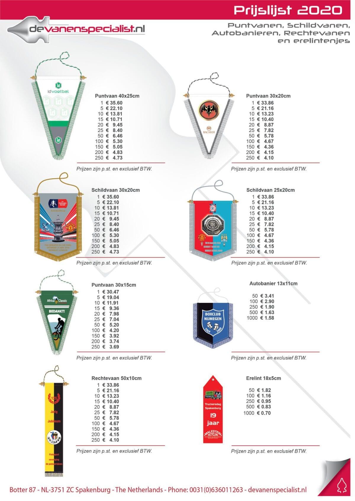 prijslijst (Custom)